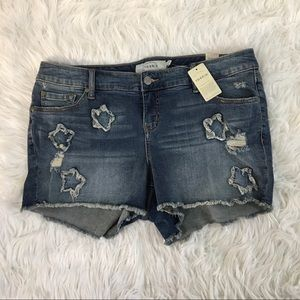 Torrid Jean Shorts Distressed Size 14 NWT
